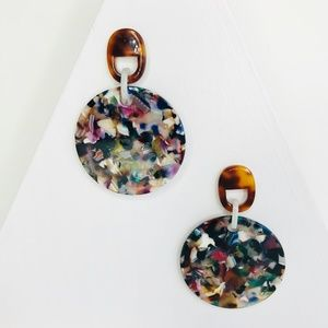 Closet Rehab Jewelry - Multicolor Acrylic Disc Drop Earrings
